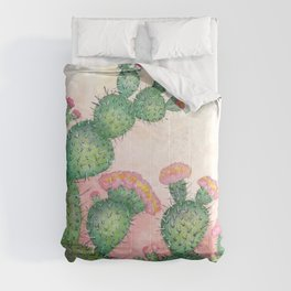 Prickly Pear Cactus Comforters