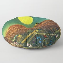 The Entire City by Max Ernst Floor Pillow