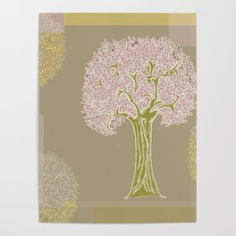 Tree of Life Colorblock Poster