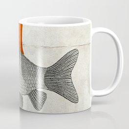 Goldfish with a Shark Fin Coffee Mug