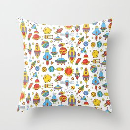 Outer space cosmos pattern Throw Pillow
