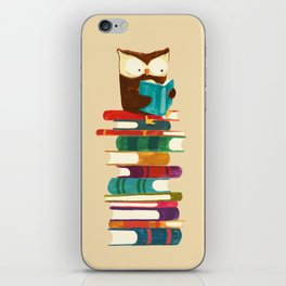 Owl Reading Rainbow iPhone Skin