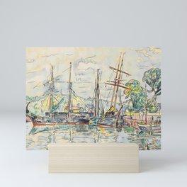 "Paul Signac ""Paimpol, Terre-Neuvas à quai"" Mini Art Print"