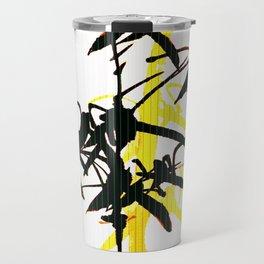 Bambu Branches On The White Background  Travel Mug
