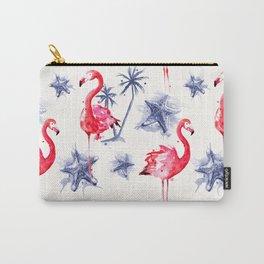 Beach Flamingos Carry-All Pouch