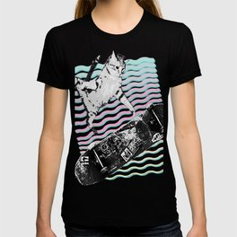 Kick Flipping Kitty | Skateboarding SK8CAT | Tony Hawks Cat T-shirt