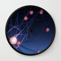 hydra Wall Clocks featuring Celestial Hydra by Ann Garrett