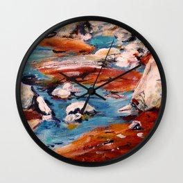 Forrest Moses Interpretation New Mexico acrylics on canvas board Wall Clock