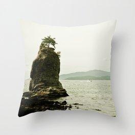 Siwash Rock - Vancouver Throw Pillow