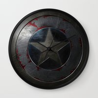 shield Wall Clocks featuring SHIELD by Bilqis