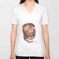 mike wrobel V-neck T-shirts featuring Mike Brown  by Tazmatic