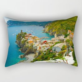 Vernazza Italy - Italian Riviera Rectangular Pillow