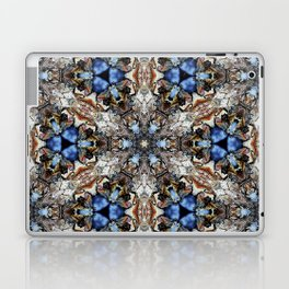 River Birch bark with blue sky kaleidoscope Laptop & iPad Skin