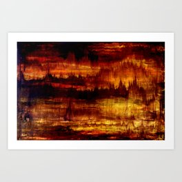Abstract Art Acrylic Painting Original Canvas Art -Golden Future  Art Print