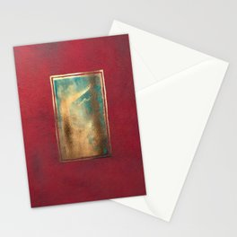 Deep Red, Gold, Turquoise Blue Stationery Cards
