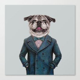 dog portrait Canvas Print