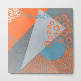 Geometric and hand drawn Metal Print