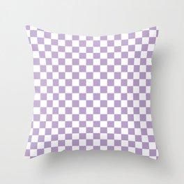 Lavender Checkerboard Pattern Throw Pillow