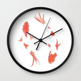 Peaceful Koi Fish - Watercolor Wall Clock
