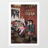 shinee Art Prints featuring SHINee by Felicia