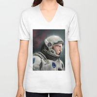 interstellar V-neck T-shirts featuring Interstellar by San Fernandez