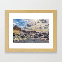 Surrealist Washington Beach Framed Art Print