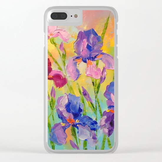 Irises Clear iPhone Case