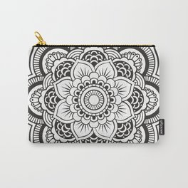 Mandala White & Black Carry-All Pouch