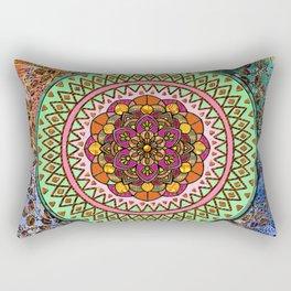 Circle of Flowers Rectangular Pillow
