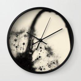 dandelion black Wall Clock