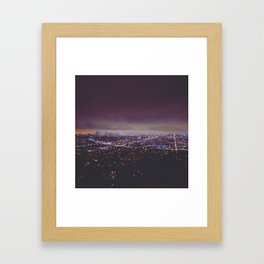 Smokey Skyline Framed Art Print