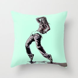 B GIRL Throw Pillow