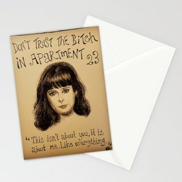 (Krysten Ritter - Don't trust the bitch in apartment 23) - yks by ofs珊 Stationery Cards