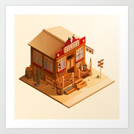 Western Saloon Art Print