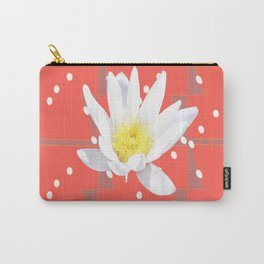 Pink Ochre and lily Carry-All Pouch