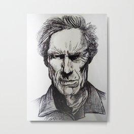Clint Eastwood Pen portrait Metal Print