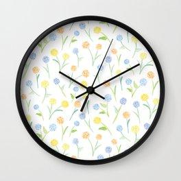 Floofy Floral Wall Clock
