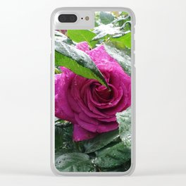 Rose After the Rain Clear iPhone Case