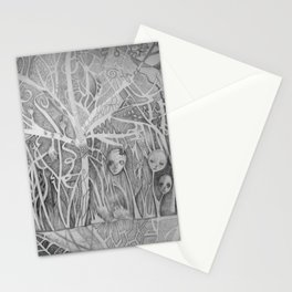 graphite forest Stationery Cards