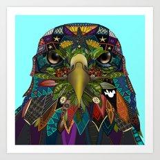 American Eagle blue Art Print