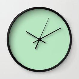 Mono Colour Light Green Wall Clock