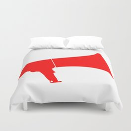 Red Isolated Megaphone Duvet Cover