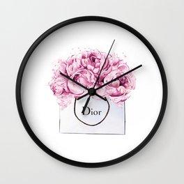 Fashion print,Wall Decor, Poster,Lips eyelashes print,Beauty print,Pink Lips Makeup Print prints mak Wall Clock