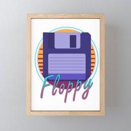 Vintage Retro Floppy Disk 80s Computer Gift Framed Mini Art Print