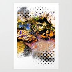 I Heart Rocks Art Print