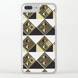 African Tribal Pattern No. 89 Clear iPhone Case