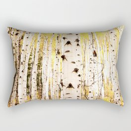 The Trees in Color Rectangular Pillow