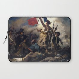 Liberty Leading the People by Eugène Delacroix (1830) Laptop Sleeve