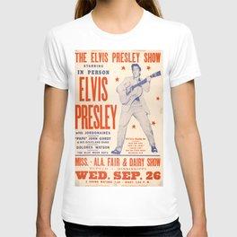 Vintage Music Art Poster - Elvis Presley In Tupelo Mississippi 0391 T-shirt