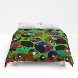 Bubble green black Comforters